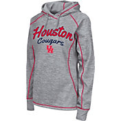 Colosseum Women's Houston Cougars Grey Crossneck Pullover Hoodie