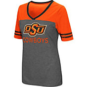 Colosseum Women's Oklahoma State Cowboys Grey McTwist Jersey T-Shirt