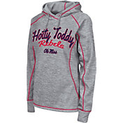 Colosseum Women's Ole Miss Rebels Grey Crossneck Pullover Hoodie