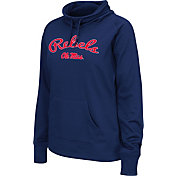 Colosseum Women's Ole Miss Rebels Blue Funnel Neck Fleece Pullover
