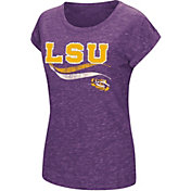Colosseum Athletics Women's LSU Tigers Purple Speckled Yarn T-Shirt