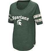Colosseum Women's Michigan State Spartans Green Bean Babbitt Raglan T-Shirt