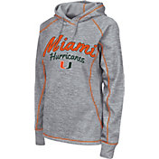 Colosseum Women's Miami Hurricanes Grey Crossneck Pullover Hoodie