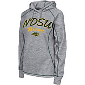 Colosseum Women's North Dakota State Bison Grey Crossneck Pullover Hoodie
