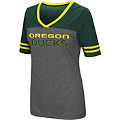 Colosseum Women's Oregon Ducks Grey McTwist Jersey T-Shirt