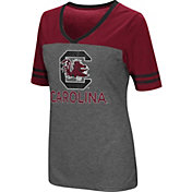 Colosseum Women's South Carolina Gamecocks Grey McTwist Jersey T-Shirt