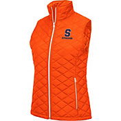 Colosseum Women's Syracuse Orange Orange Elite Quilted Full-Zip Vest