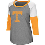 Colosseum Women's Tennessee Volunteers Grey Raglan T-Shirt