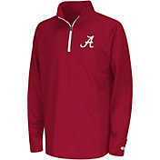 Colosseum Youth Alabama Crimson Tide Crimson Draft Performance Quarter-Zip