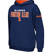 Colosseum Boys' Illinois Fighting Illini Blue Pullover Hoodie