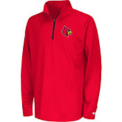 Colosseum Youth Louisville Cardinals Cardinal Red Draft Performance Quarter-Zip