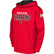 Colosseum Youth Maryland Terrapins Red Fleece Hoodie