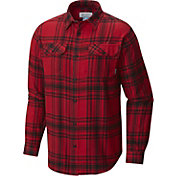 Columbia Men's Georgia Bulldogs Red Plaid Flare Gun Flannel Long Sleeve Shirt