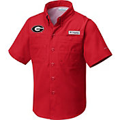 Columbia Youth Georgia Bulldogs Red Tamiami Shirt