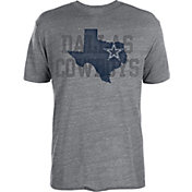 Dallas Cowboys Merchandising Men's Lone Star State Coach Grey T-Shirt
