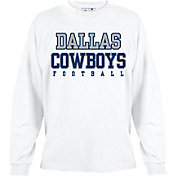 Dallas Cowboys Merchandising Men's Practice Long Sleeve White Shirt