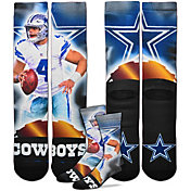 For Bare Feet Dallas Cowboys Rayne Dakota Prescott Player Crew Socks