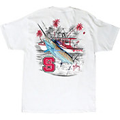 Guy Harvey Men's NC State Wolfpack Collegiate Boat White T-Shirt