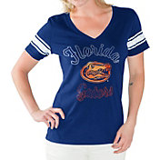 G-III For Her Women's Florida Gators Blue First Pick V-Neck T-Shirt