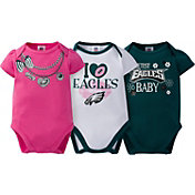 Gerber Infant Girl's Philadelphia Eagles 3-Piece Onesie Set
