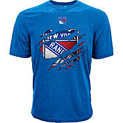 Levelwear Men's New York Rangers Ripped Logo Royal T-Shirt