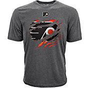 Levelwear Youth Philadelphia Flyers Ripped Logo Charcoal T-Shirt