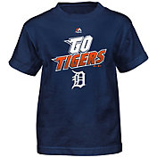 Majestic Boys' Detroit Tigers Loud Speakers Navy T-Shirt