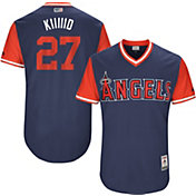 Majestic Men's Authentic Los Angeles Angels Mike Trout 'Kiiiiid' MLB Players Weekend Jersey