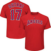 Majestic Men's Los Angeles Angels Shohei Ohtani #17 Red T-Shirt