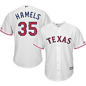 Majestic Men's Replica Texas Rangers Cole Hamels #35 2017 4th Of July Cool Base Jersey