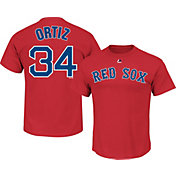 Majestic Men's Boston Red Sox David Ortiz #34 Red T-Shirt