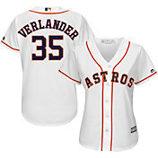 Majestic Women's Replica Houston Astros Justin Verlander #35 Cool Base Home White Jersey