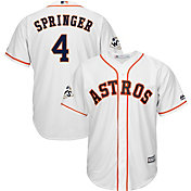 Majestic Men's 2017 World Series Replica Houston Astros George Springer Cool Base Home White Jersey
