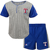 Majestic Toddler Texas Rangers Batter Up Shorts & Top Set