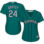 Majestic Women's Replica Seattle Mariners Ken Griffey Jr. #24 Cool Base Alternate Teal Jersey