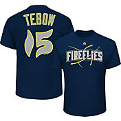 Majestic Youth Columbia Fireflies Tim Tebow #15 Navy T-Shirt