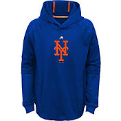 Majestic Youth New York Mets Performance Royal Pullover Hoodie