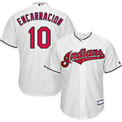 Youth Replica Cleveland Indians Edwin Encarnacion #10 Home White Jersey