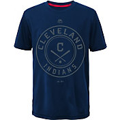 Majestic Youth Cleveland Indians Navy T-Shirt