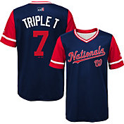 Majestic Youth Washington Nationals Trea Turner 'Triple T' MLB Players Weekend Jersey Top