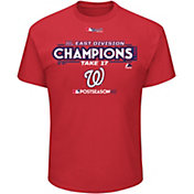 Majestic Youth Washington Nationals 2017 NL East Champions Locker Room Red T-Shirt