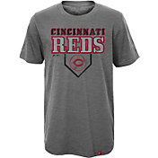 Majestic Youth Cincinnati Reds Heirloom Grey T-Shirt