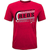 Majestic Youth Cincinnati Reds Tri-Blend Curveball Red T-Shirt