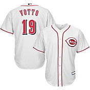 Majestic Youth Replica Cincinnati Reds Joey Votto #19 Cool Base Home White Jersey