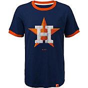 Majestic Youth Houston Astros Ringer Navy T-Shirt