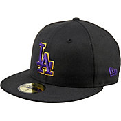 New Era Men's Los Angeles Dodgers 59Fifty City Pride Black/Purple/Gold Fitted Hat