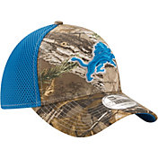New Era Men's Detroit Lions Real Tree Neo 39Thirty Camouflage Flex Hat