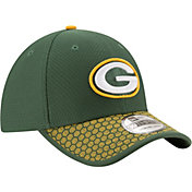 New Era Men's Green Bay Packers Sideline 2017 On-Field 39Thirty Stretch Fit Hat