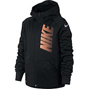 Nike Boys' Therma Full Zip Graphic Hoodie