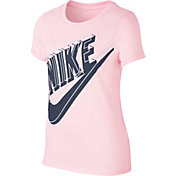 Nike Girls' Sportswear Futura Glow Graphic T-Shirt